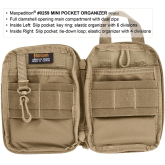 Maxpedition Mini EDC Pocket Organizer